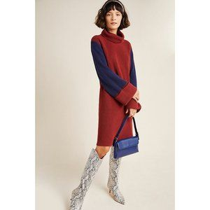 Anthropologie Duffy Colorblocked Sweater Dress